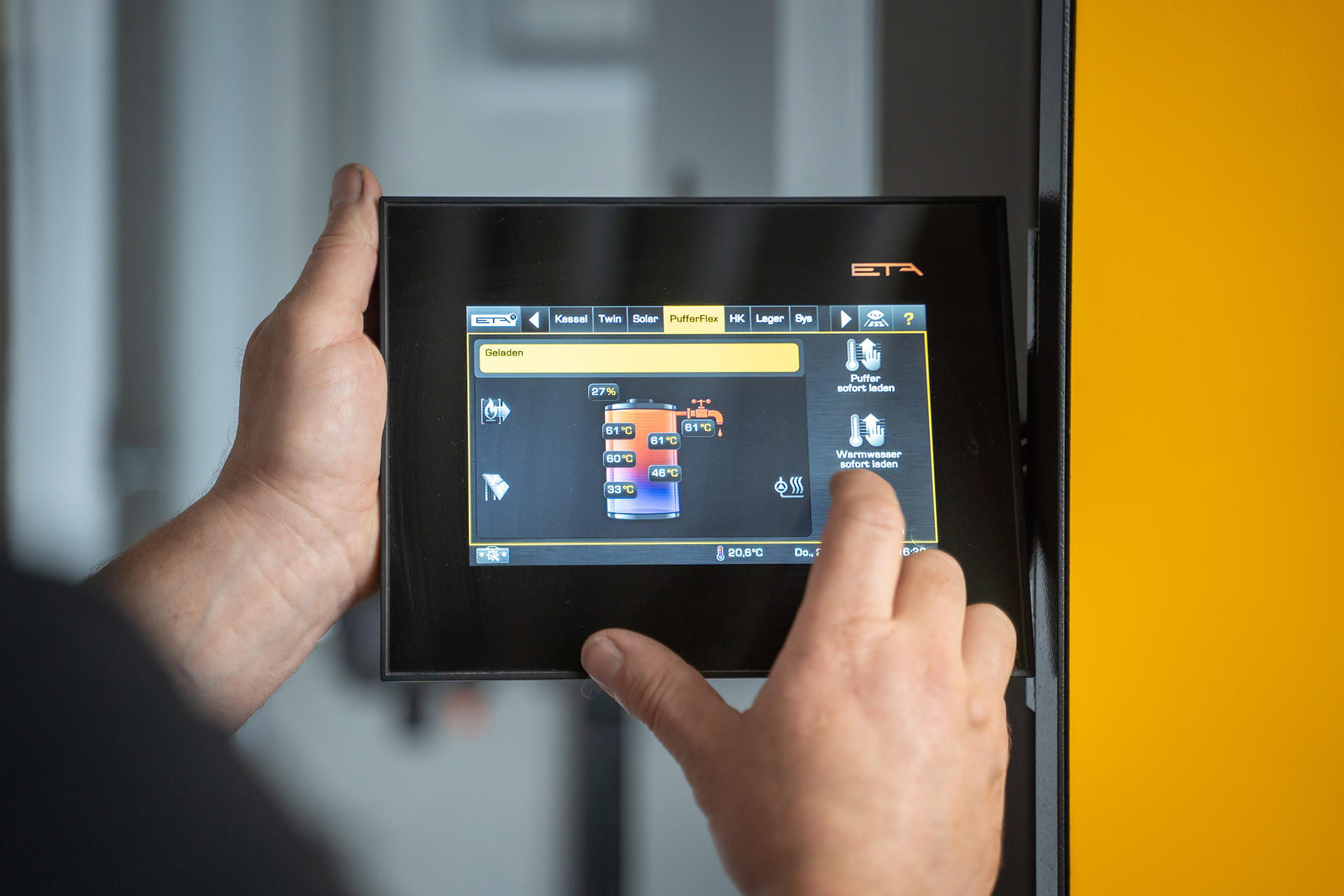 HUCK-Haustechnik-Heizung-Referenz-Touchpanel-Service